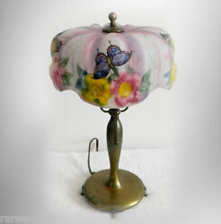 Pairpoint Vintage Puffy Shade Butterfly Boudoir Table Lamp