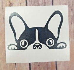 Cute Boston Terrier Dog Car Window Home Yeti Laptop Decal Stickers. ColorSize