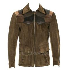 Rare Tom Ford For S/s 2004 Runway Menand039s Leather Western Jacket It.52 - 42