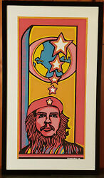 Vintage And039cheand039 Silkscreen Print By Raul Martinez 1968 Cuba