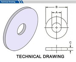 Gasket Outside Diameter 124mm, Thickness 3mm Select Inside Dia, Material, Pack