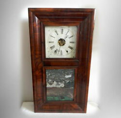 William Gilbert Eight Day Clock In Large Rosewood Frame