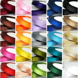 22m Length1/4-2 Widthcoloured Satin Ribbon Pro Quality Sided Roll Party