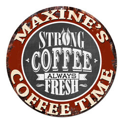 Cwct-0254 Maxine's Coffee Time Chic Tin Sign Decor Gift Ideas