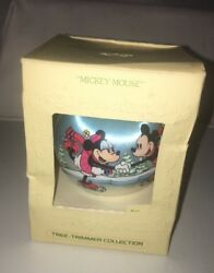 Hallmark Tree Trimmer Ornament Mickey Mouse 1980 Satin Unbreakable