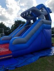 14 Foot Commercial Inflatable Shark Water Slide Sale Or Take Over The Lease