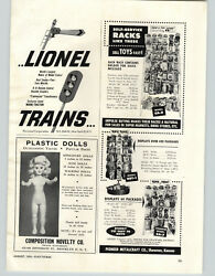 1954 Paper Ad Lionel Toy Electric Model Train Sets Magne-traction