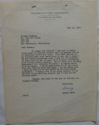 Daniel Mann Signed Letter, Columbia Pictures, May 12, 1959.