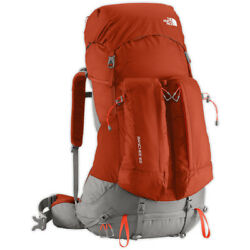 NEW MENS NORTH FACE BANCHEE 65 LITER L-XL BACKPACK RED CLAY ZION ORANGE RUCKSACK