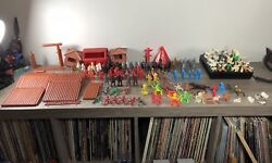 Fort Apache Wild West Vintage Playset Toy Marx W/ Lots Of Extras
