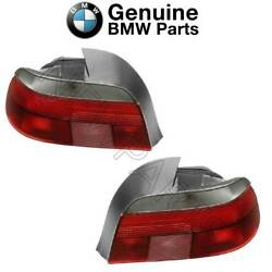 For Bmw E39 528i 540i M5 Pair Set Of 2 Taillights W/ White Turn Signal Oes