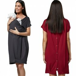 Happy Mama. Womenand039s Labor Delivery Hospital Gown Breastfeeding Maternity. 097p