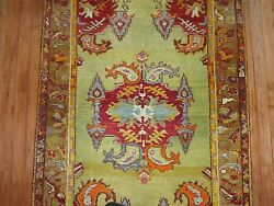 Antique Turkish Melas Mudjur Oushak Ushak Rug Size 3and0392and039and039x5and0398and039and039