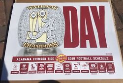 2018 Alabama Crimson Tide Football Schedule A Day And Fan Day Player Poster Lot