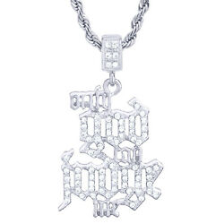 Iced Only God Judge Pendant Men's Hip Hop Silver Plated Chain Necklace Hc 1905 S