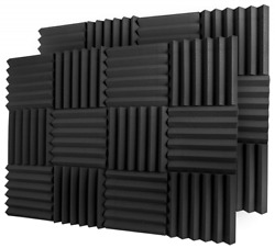Studio Sound Insulation Acoustic Foam Panels 2in X 12in X 12in Fireproof 24 Pack