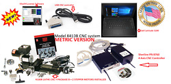 Sherline 8410b 3.5andprime X 8andprime Lathe Cnc System + B Package + Controller + Laptop