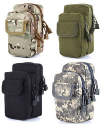 Outdoor Military Molle Pouch Belt Pack Bag Tactical Waterproof Waist Pocket US