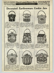 1938 Paper Ad Decorated Earthenware Stoneware Pottery Cookie Jar Windmill Tomato