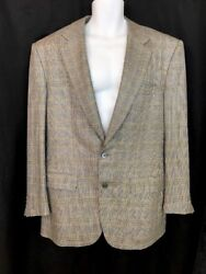 Bijan Jacket Black White And Gold To Button Wool Blend Size 42 R