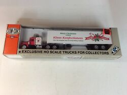 """Con-cor Ho Scale 1995 """"merry Christmas Klaus Konfectioners"""" Tractor And Trailer"""