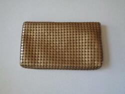 Vintage Whiting and Davis Evening Bag Goldtone Mesh Purse Clutch
