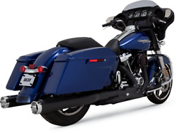 Vance And Hines Monster Round Slip-ons 46780 Black 4 In.