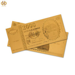 100pcs Euro Gold Banknote Hungary 2000 Forint Bill Currency Note Collection