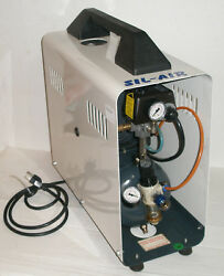 SILENTAIRE SIL-AIR 50D AL - PORTABLE AIR COMPRESSOR  REGULATOR-TANK-FILTER
