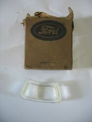 Nos 28-37 Model A Ford License Plate Light Lens Curved Glass 4 Lh 28-21198-1