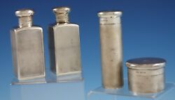 Mappin And Webb English Sterling Silver Grooming Set 4pc C. 1921 2871 Vintage