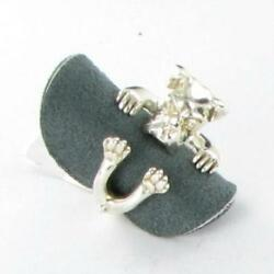 Dog Fever Jewelry Boxer Dog Sterling Silver Hug Ring Sz 7 New $220