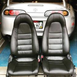 1997-1998 Toyota Supra Mk4 / Mkiv Black Replacement Leather Seat Cover