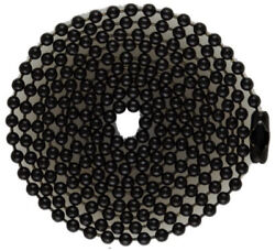 Black Coated Steel Ball Chains For Military Dog Tags, Bag Of 100