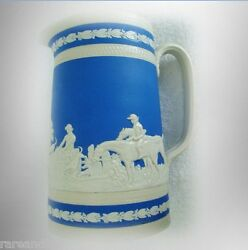 Copeland Spode Vintage Pitcher In Blue And White