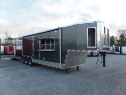 Concession 8.5x36 Charcoal Gray Goose-neck Event Trailer