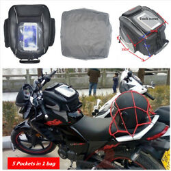 New Motorcycle Magnetic Oil Fuel Tank Bags Multifunction Tool Bag wRain Cover