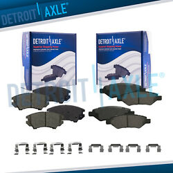Front And Rear Ceramic Brake Pads For 2010 2011 2012 2013 2014 2015 Chevy Camaro