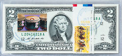 United States Currency Two Dollar Bill Paper Money Collection 2 Stamps New Year