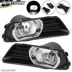 For Toyota 2007-2009 Camry Clear Lens Fog Driving Lights Kit + Switch Kit