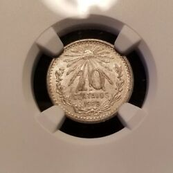 1909 M Mexico Silver 10 Centavos Ngc Ms 60 Low Mintage Better Date Mint State