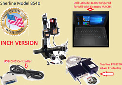 Sherline 8540 12 Mill System + Usb Cnc Controller Laptop. Inch