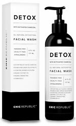 All Natural Activated Charcoal Facial Cleanser - Organic Daily Acne Skincare ...
