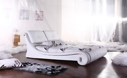 Greatime Platform Bed With Big Cozy Pillow Type Headboard/ Leatherette Finished
