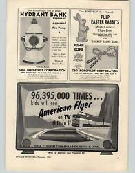 1957 Paper Ad A C Gilbert American Flyer Tv Television Advertising