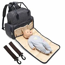 All in One Backpack Diaper Bag Waterproof Baby Nappy Bag Mom Bag for Mom and Dad