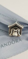 Authentic Pandora Dog House Puppy Kennel Charm 790592 Retired