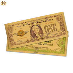 100pcs Collectible Colorful 1 Dollar Gold Banknote Plated Gold Foil Money Note