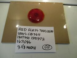 Red Glass Nos Taillight Lens Cb365 3 1/8 Width Free Shipping