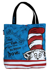 NEW Dr Seuss The Cat in the Hat Kids Tote Reversible Multi Use Bag by Amooze AU $27.95